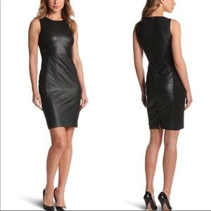 French Connection leather dress
